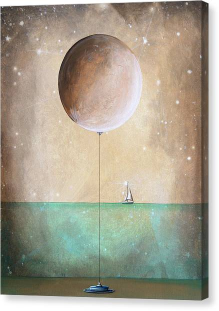 Whimsical Canvas Print - High Tide by Cindy Thornton