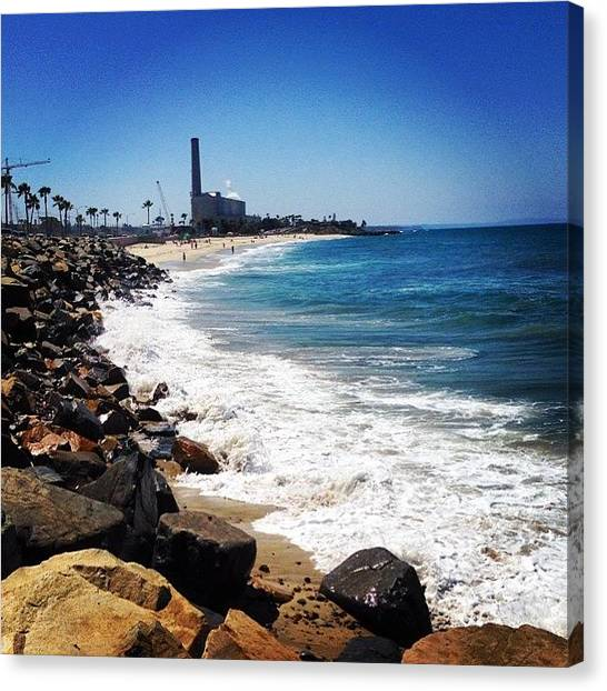 Palm Trees Canvas Print - High Tide Happiness by Go Inspire Beauty