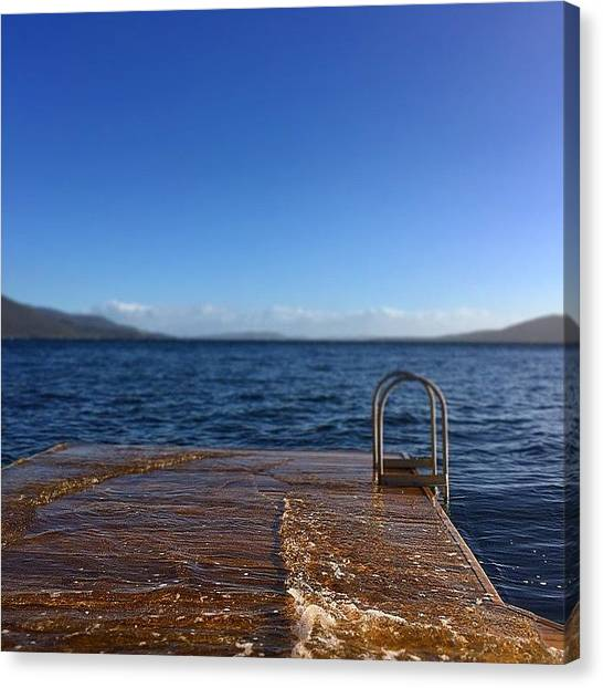 Pontoon Canvas Print - High Tide by Pix Jax