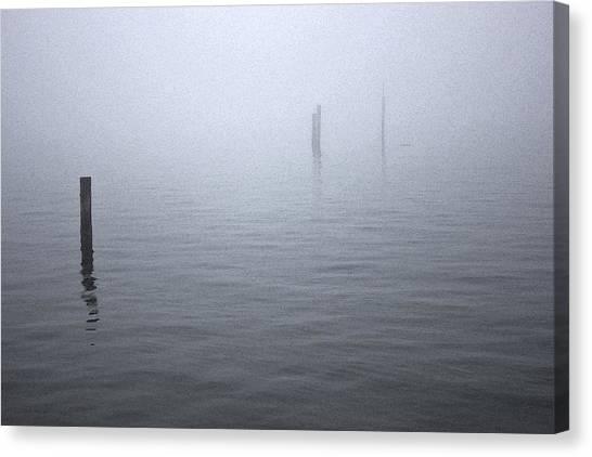 High Tide Sentinels Canvas Print by Stephen Prestek