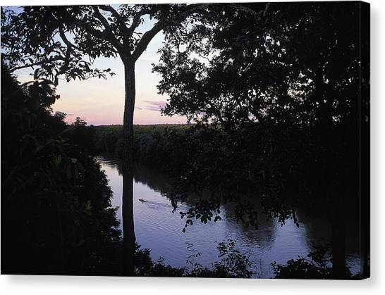 Congo River Canvas Print - High View Of Chinko River Rafting Trip by Chris Anderson