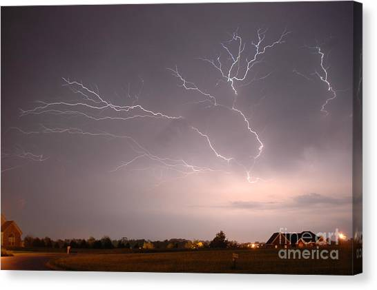 High Voltage Canvas Print by Steven Townsend