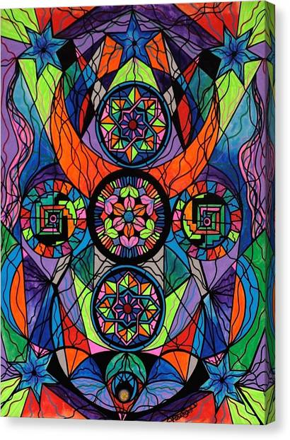 Mandala Canvas Print - Higher Purpose by Teal Eye  Print Store