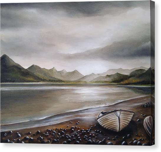 Highland Evening Canvas Print by Sean Afford