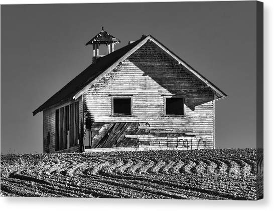 Abandoned School Canvas Print - Highland School House by Mark Kiver