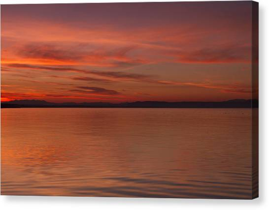 Highland Sunset Canvas Print by Karl Normington