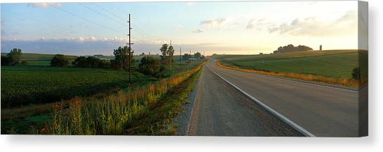 Country Roads Canvas Print - Highway Eastern Ia by Panoramic Images