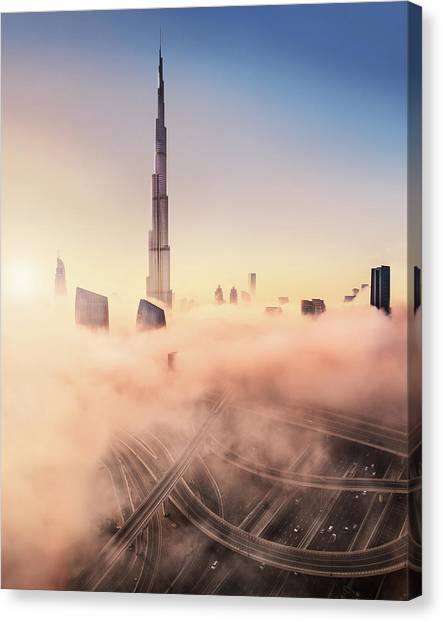Dubai Skyline Canvas Print - Highway To Heaven by Esm?e Prexus