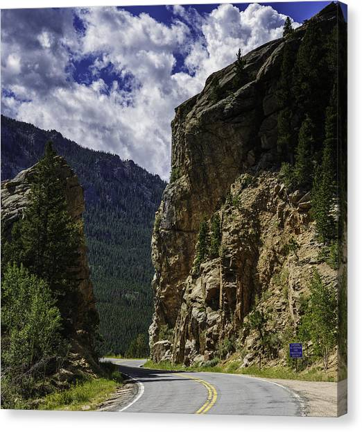 Highway To Heaven Canvas Print by Tom Wilbert