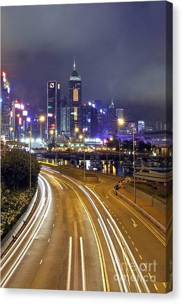 Hongkong Canvas Print - Highway To Hong Kong by Lars Ruecker