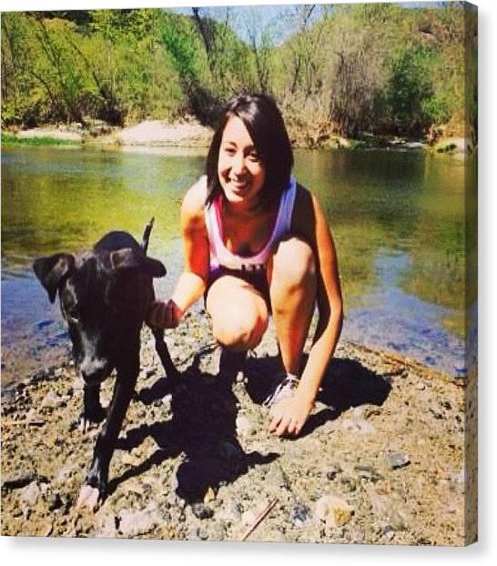Mastiffs Canvas Print - #hike #puppy #mastiff #love #cutie by Anjanae Torres