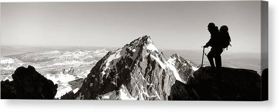 Wy Canvas Print - Hiker, Grand Teton Park, Wyoming, Usa by Panoramic Images