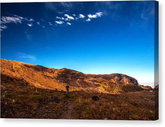 Nevado Del Ruiz Canvas Print - Hiking In Colombia by Jess Kraft