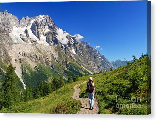 hiking in Ferret Valley Canvas Print