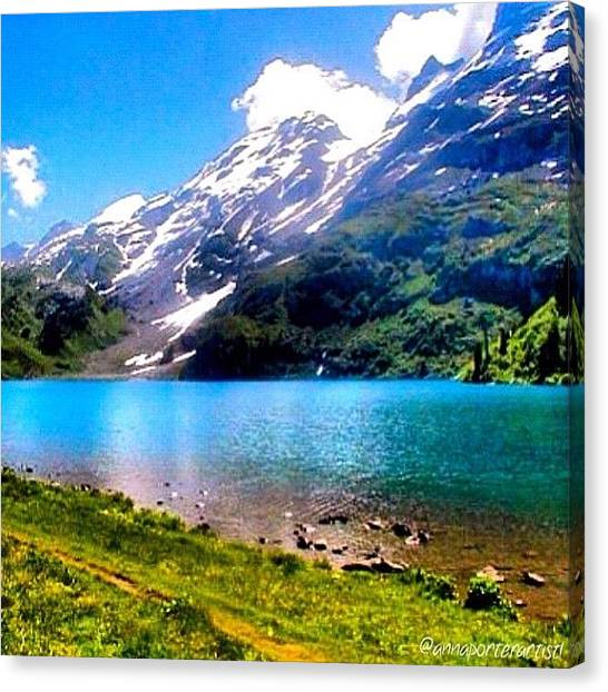 Swiss Canvas Print - Hiking Switzerland by Anna Porter