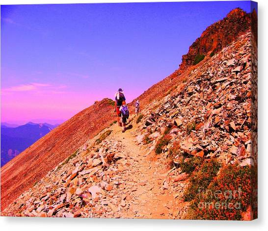 Hiking To Paradise Canvas Print