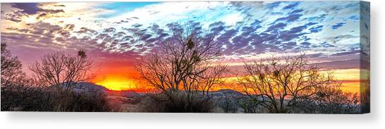 Hill Country Sunset Canvas Print by Wally Taylor
