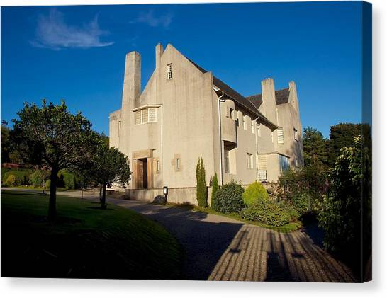 Hill House By Charles Rennie Mackintosh Canvas Print
