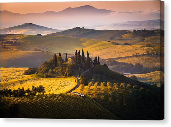 Hills And Houses Canvas Print