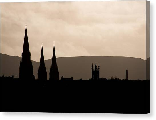 Hills And Spires Canvas Print