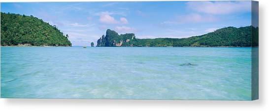 Phi Phi Island Canvas Print - Hills In The Ocean, Loh Dalum Bay, Ko by Panoramic Images