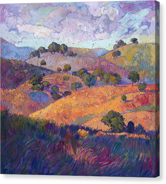 Rolling Hills Canvas Print - Hills Of Paso by Erin Hanson