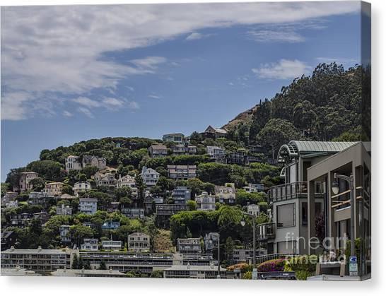 Hills Of Salsalito Canvas Print