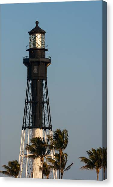 Hillsboro Inlet Lighthouse In The Evening Canvas Print
