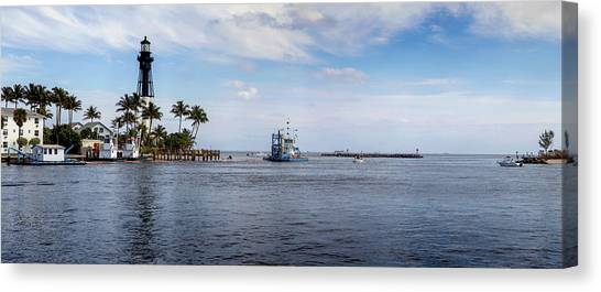 Hillsboro Inlet Lighthouse Panorama Canvas Print