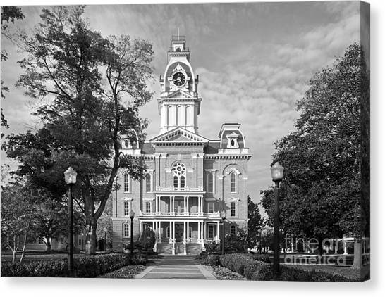 Central Michigan University Canvas Print - Hillsdale College Central Hall by University Icons
