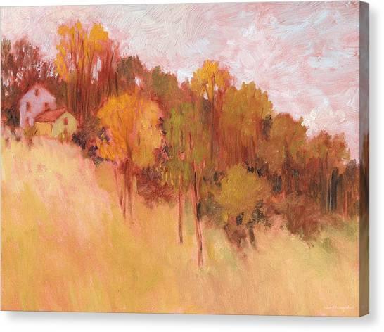 Hillside Trees Canvas Print