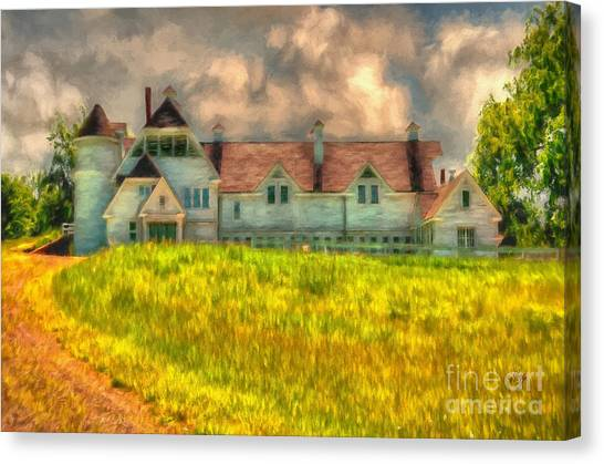 Old Country Roads Canvas Print - Hilltop Farm by Lois Bryan