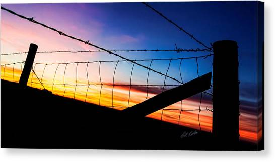 Hilltop Sunset Canvas Print