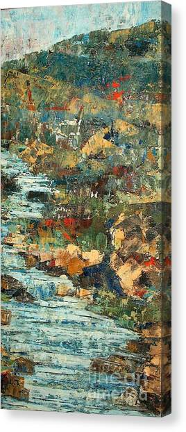 Hilly Stream - Sold Canvas Print