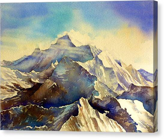 Mount Everest Canvas Print - Himalaya by Thomas Habermann
