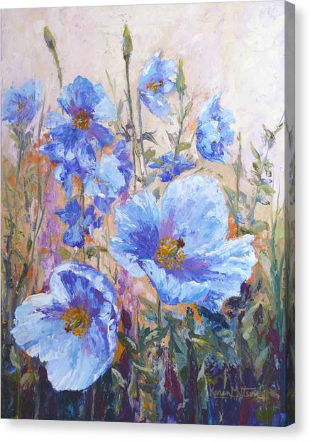 Himalayan Blue Poppies Canvas Print