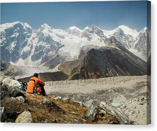 Kangchenjunga Canvas Print - Himalayan View by Brent Olson