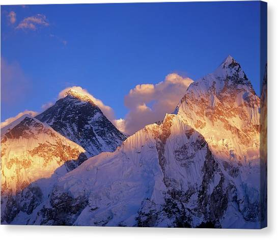 Mount Everest Canvas Print - Himalayas by David Woodfall Images/science Photo Library