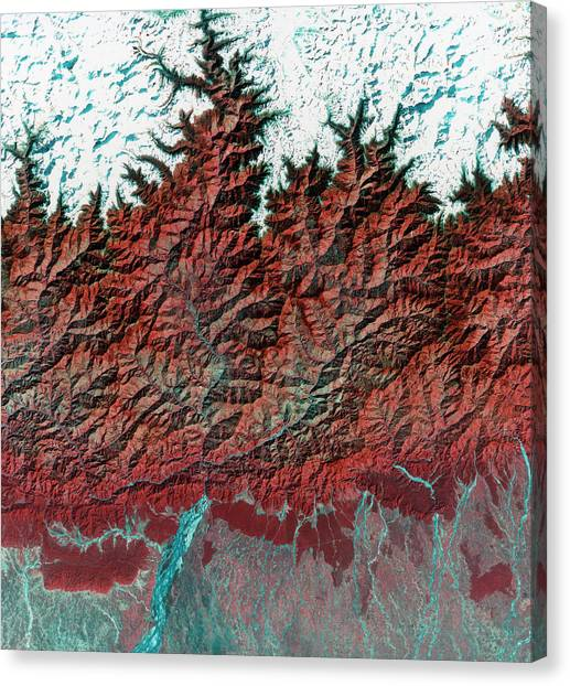 Himalayas Canvas Print - Himalayas Mountains by Mda Information Systems/science Photo Library