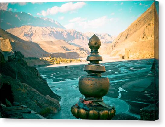 Himalayas Road To Upper Mustang  From Kagbeni Canvas Print