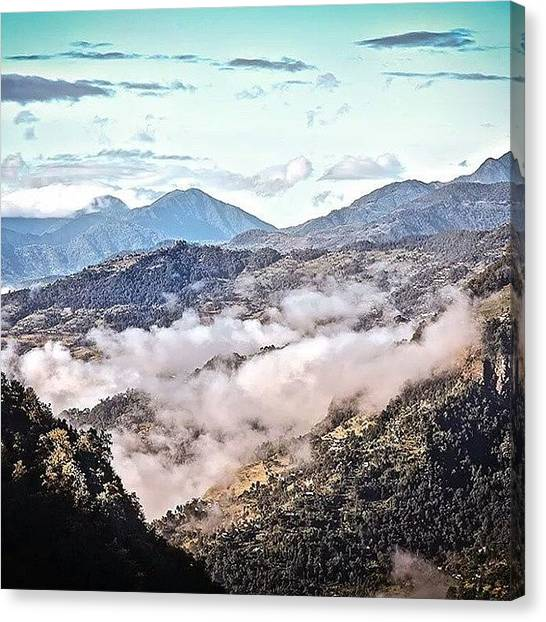 Sunset Horizon Canvas Print - Himalayas Valley by Raimond Klavins