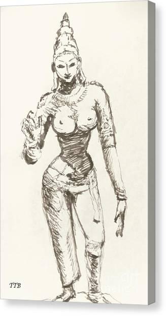 Hindu Goddess Sivakami Canvas Print