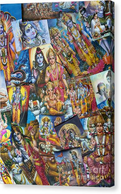 Hinduism Canvas Print - Hindu Deity Posters by Tim Gainey