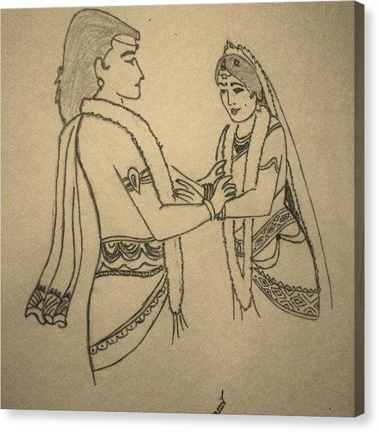 Hinduism Canvas Print - #hindu #marriage #ceremony by Anand Mudaliar