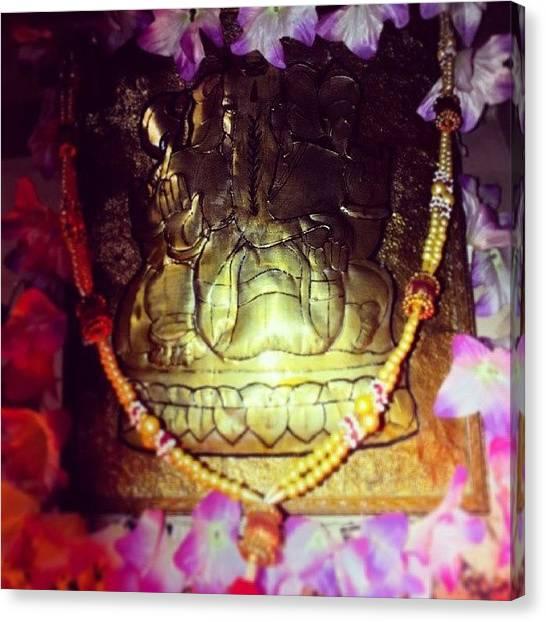 Hinduism Canvas Print - #hinduism #hindu #god #lord #ganesha by Vijay Patel