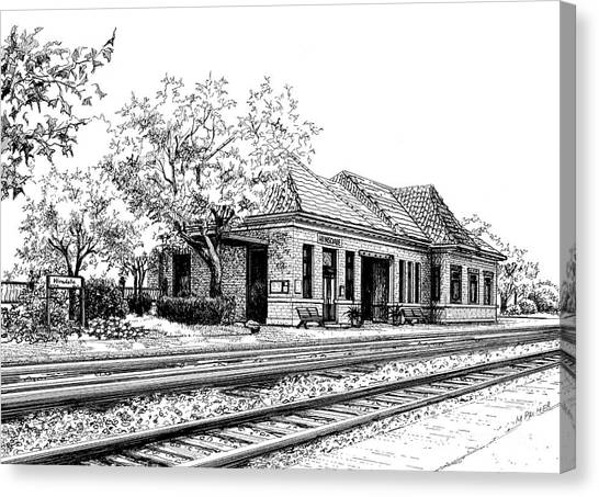 Hinsdale Train Station Canvas Print
