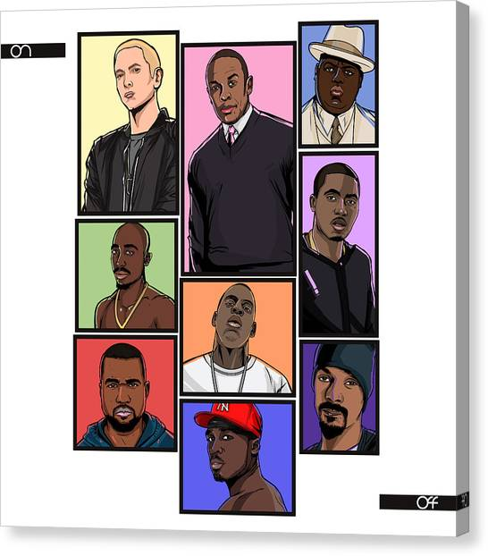 Grand Theft Auto Canvas Print - Hiphop Legends by Akyanyme