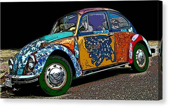 Hippie Vw Bug Canvas Print