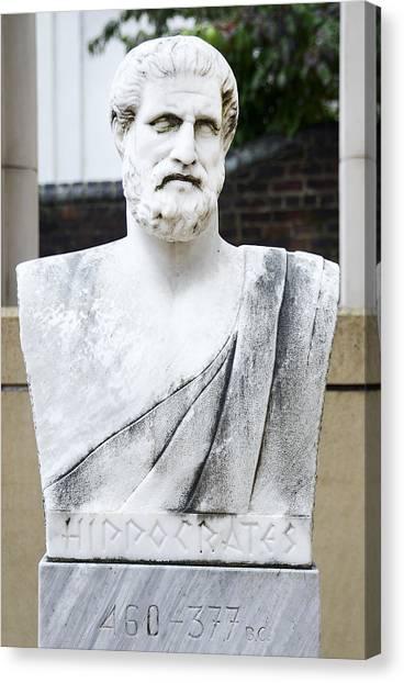 Atlantic 10 Canvas Print - Hippocrates Statue - Vcu Campus by Brendan Reals