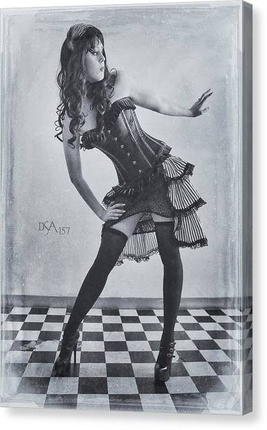 Steampunk Canvas Print - Hips Cocked by David April